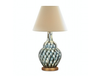 Bunny Williams Home Pheasant Feather Lamp - Blue BLH1279