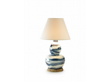 Bunny Williams Home Brush Stroke Lamp - Blue BLH1055