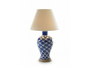 Bunny Williams Home Chicken Feather Lamp - Blue BLH1056