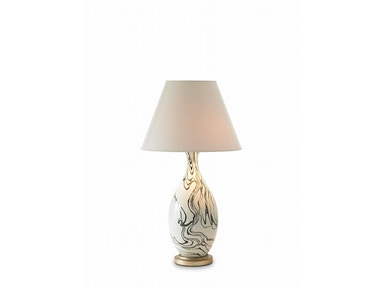 Bunny Williams Home Marbleized Lamp - Black BLH1092