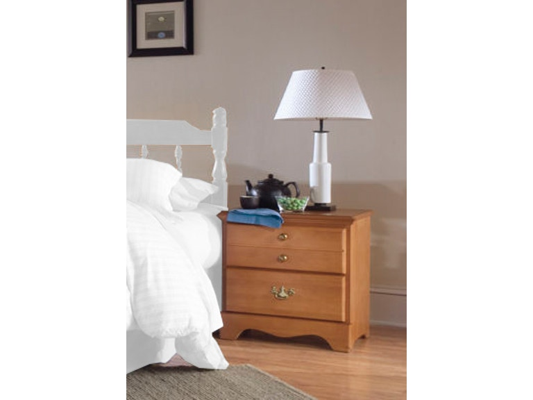 Carolina Furniture Works Bedroom 2 Drawer Night Stand 152200