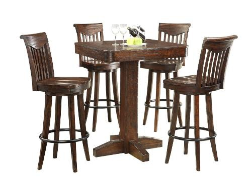 1475 05 PT36. Heavily Distressed Bar Height Dining Table