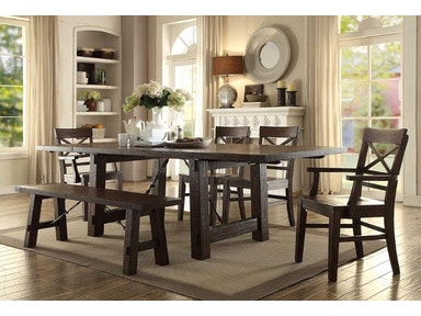 ECI Trestle Dining Table 1475-05-TRB