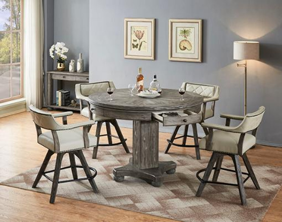 Eci Bar And Game Room Round Game Table 0921 95 Rcgt Rcgb Seiferts Furniture Erie Pa