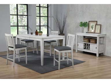 0425 80 LCT CL Counter Height Leg Dining Table