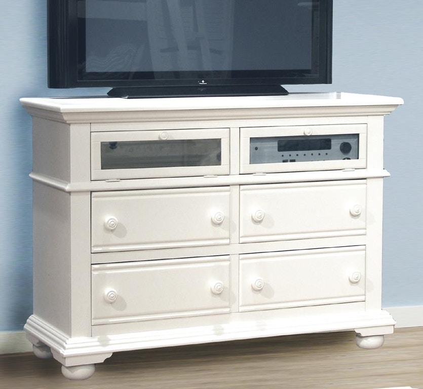 American Woodcrafters Youth Bedroom Entertainment Chest