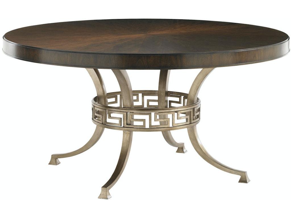lexington dining room table   Lexington Dining Room Regis Round Dining Table 706-875C ...