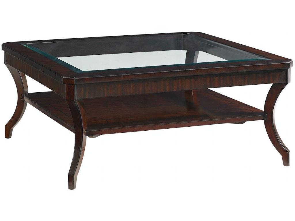 Lexington living room warner square cocktail table 708 943 for Living room cocktail table