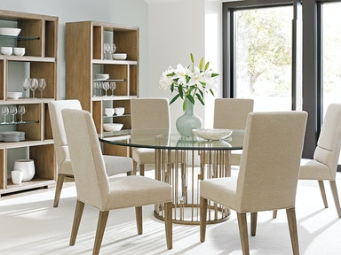 Lexington Rendezvous Round Metal Dining Table Base Lx010725875b From Walter E Smithe Furniture Design