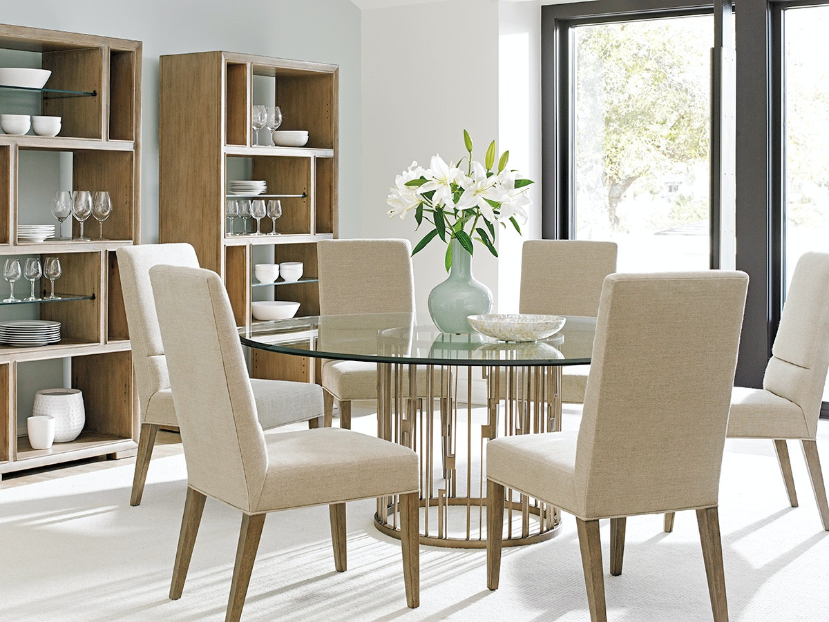 lexington dining room rendezvous round metal dining table base 725