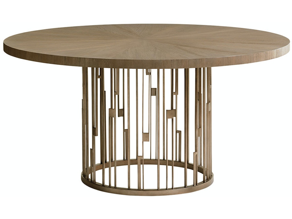 Lexington dining room rendezvous round dining table top for Best dining table brands
