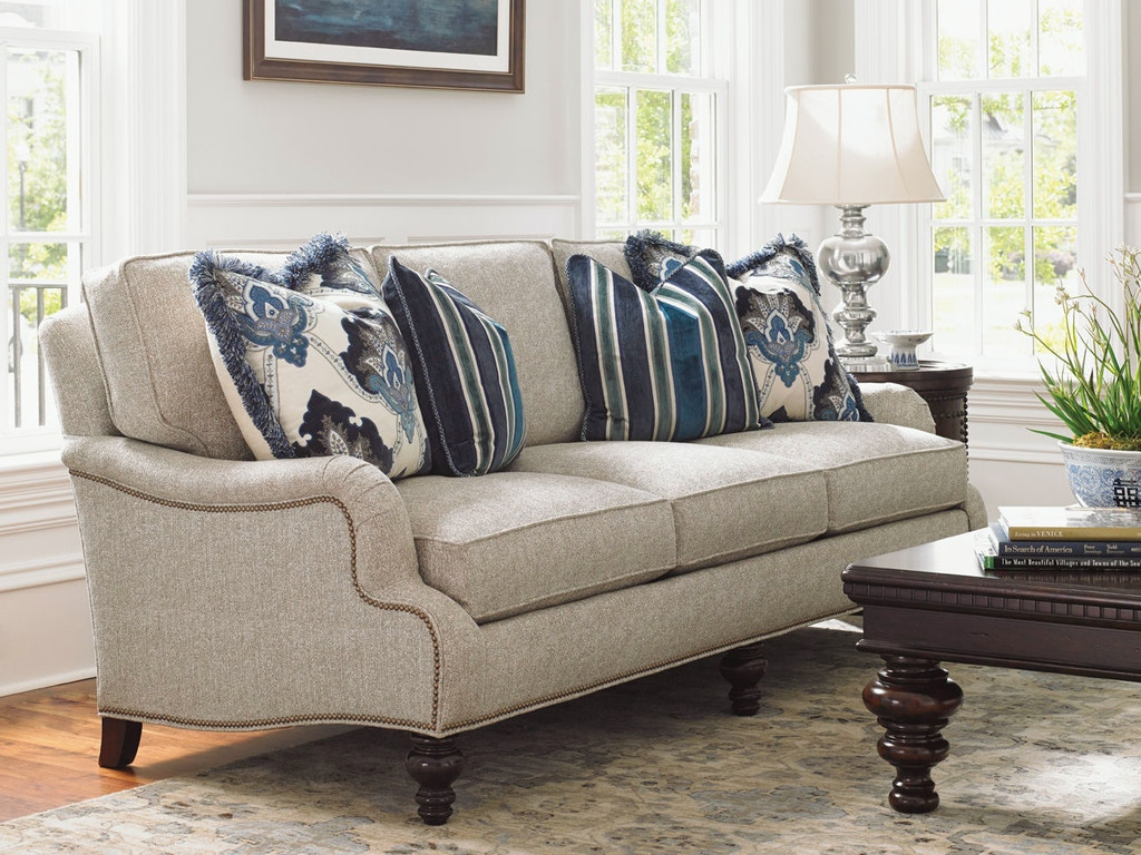 Lexington Living Room Amelia Leather Sofa Ll7275 33 Paul