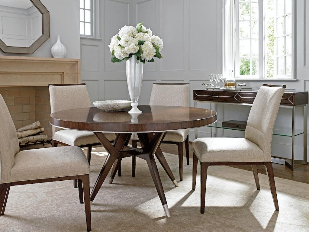 lexington dining room villa grove round dining table 729 870c mccreerys home furnishings. Black Bedroom Furniture Sets. Home Design Ideas
