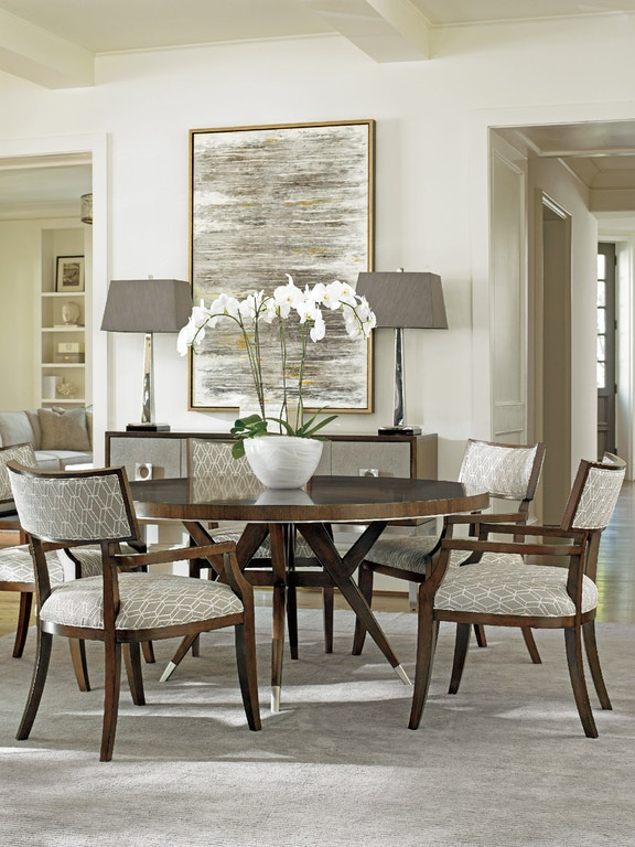 lexington dining room table   Lexington Dining Room Strathmore Round Dining Table 729 ...