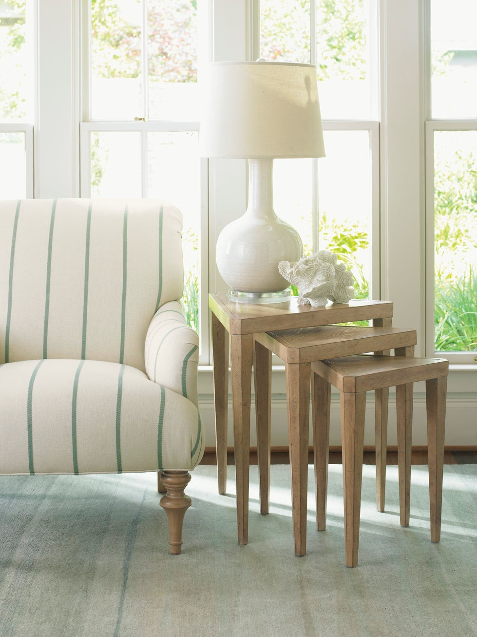 Lexington Cupertino Triangular Nesting Tables LX010830952 From Walter E.  Smithe Furniture + Design