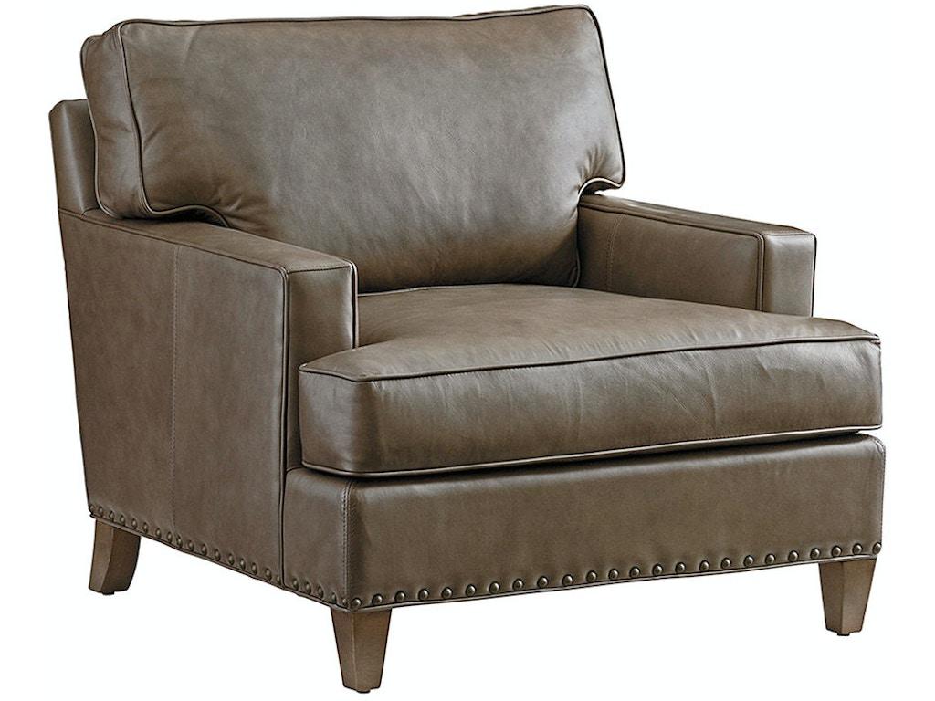 Lexington Living Room Hughes Leather Chair 9012 11 01 Russell 39 S Fine Furniture San Jose Ca