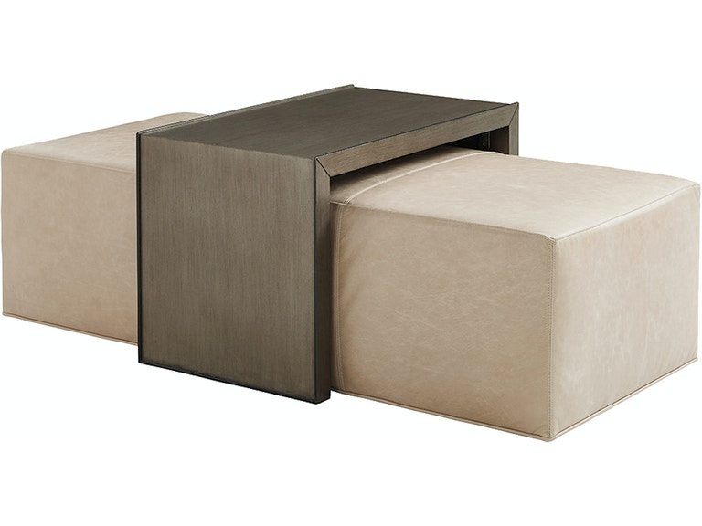 Lexington Living Room Leather Cocktail Ottoman Slide