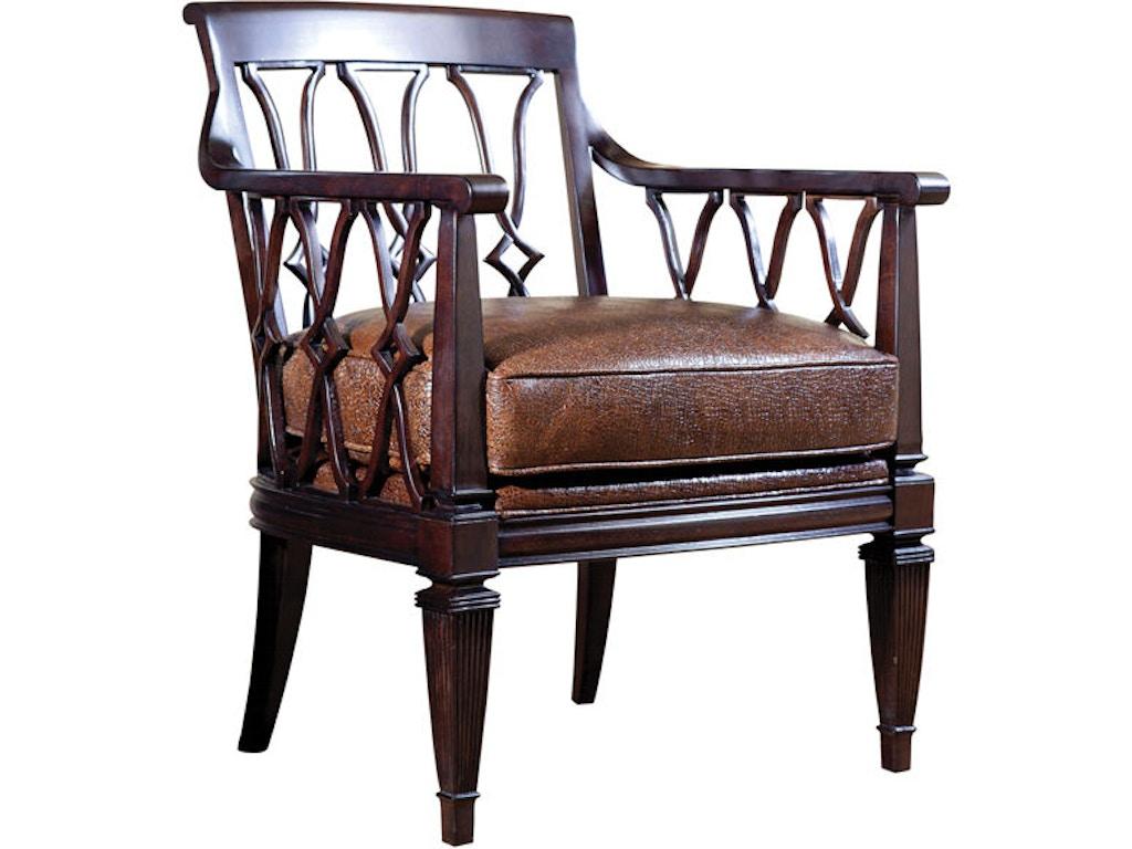 Lexington Living Room Ginger Leather Chair Ll1513 11 Blockers Furniture Ocala Fl