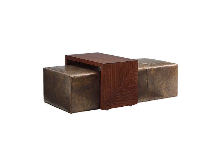 Lexington Broadway Cocktail Ottoman With Slide Leather LL1784-25T