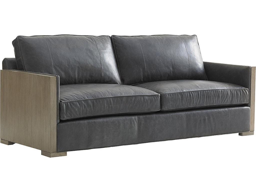 Lexington Living Room Deishire Leather Sofa Ll1893 33 Russell 39 S Fine Furniture San Jose Ca