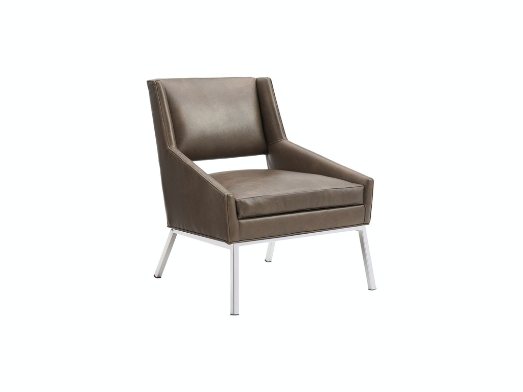 Lexington Living Room Amani Chair Leather Polished Chrome Ll1927 11p Norwood Furniture