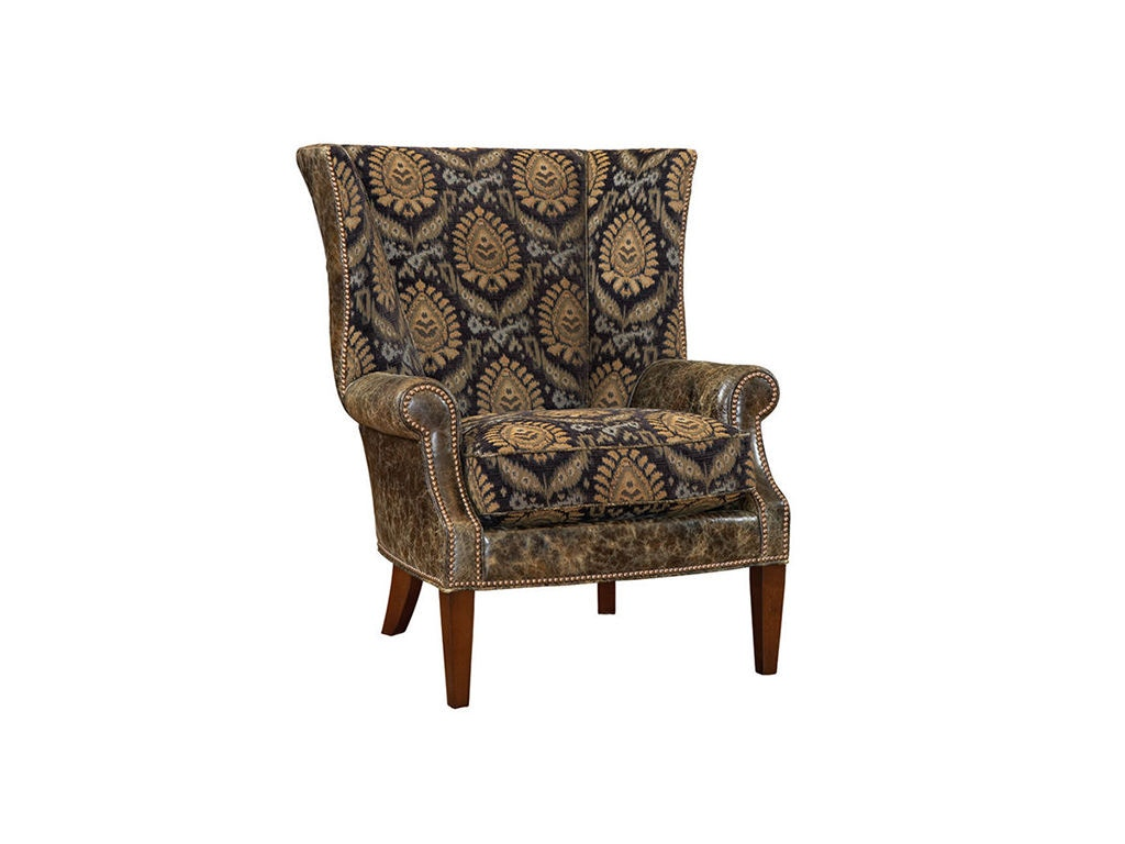 Lexington Living Room Marissa Leather Wing Chair Ll7204 11