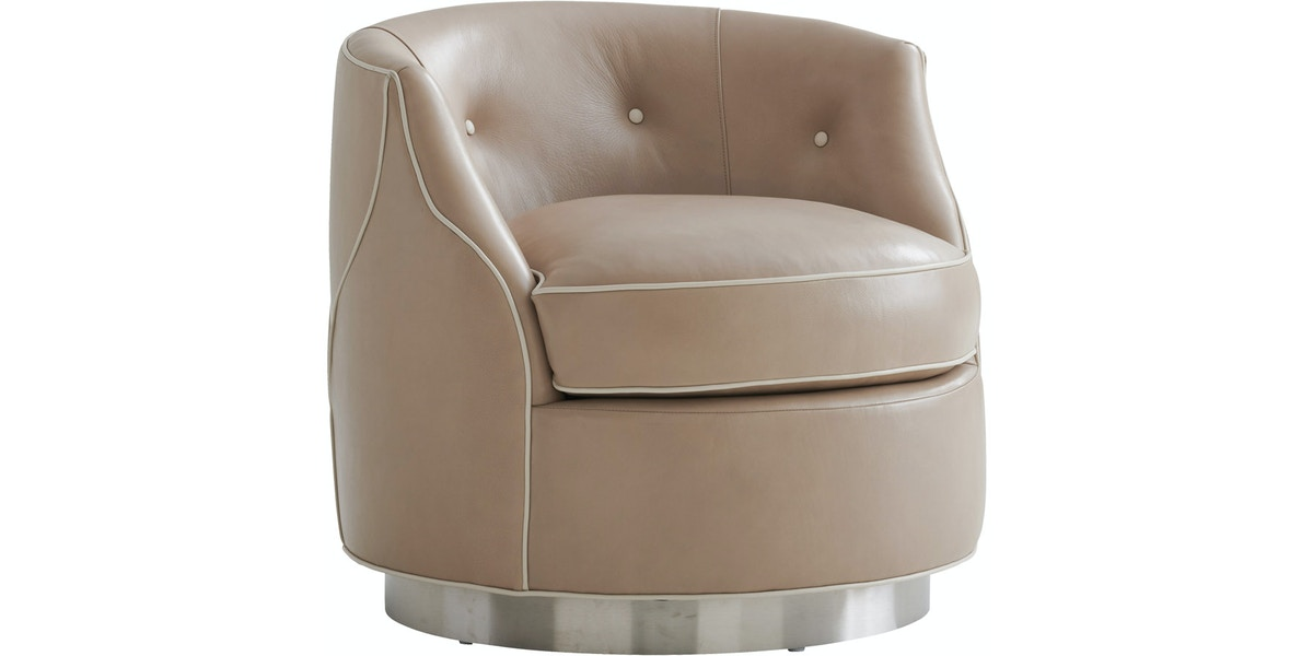 Lexington Living Room Robertson Leather Swivel Chair Ll7239 11sw White House Designs For Life