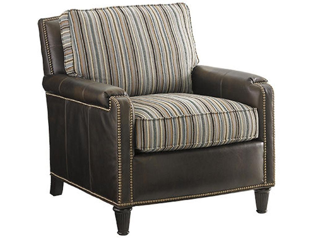 Lexington Living Room Bishop Leather Chair Ll7274 11 Blockers Furniture Ocala Fl