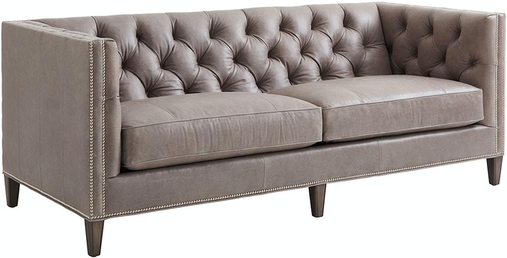 Lexington Living Room Camille Leather Sofa Ll7569 33