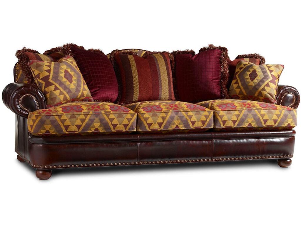 Lexington Living Room Jackson Leather Sofa Ll7584 33 Blockers Furniture Ocala Fl