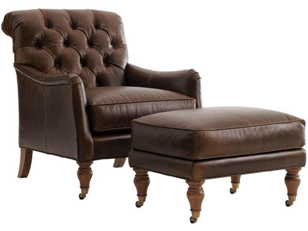 Lexington Living Room Worthington Tufted Back Leather Chair Ll7593 11 Russell 39 S Fine Furniture