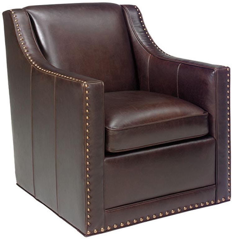 Leather Sofa Repair Ocala: Lexington Living Room Barrier Leather Swivel Chair LL7620