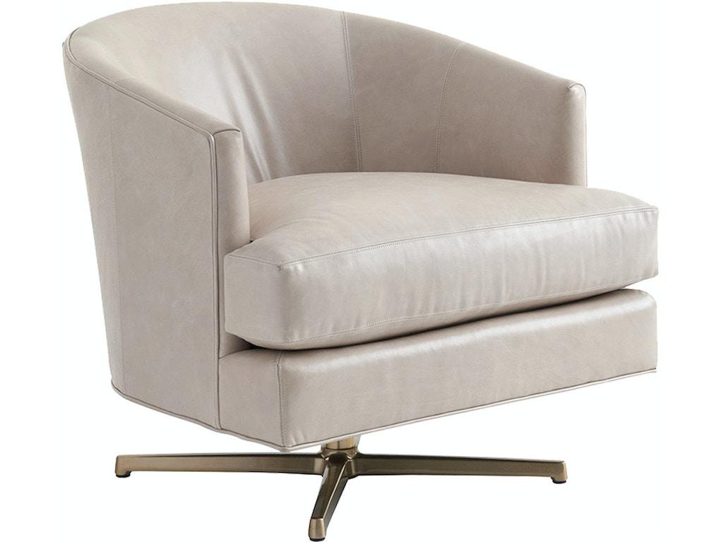 Lexington Living Room Graves Leather Swivel Chair Brass Ll7654 11bsw Hamilton Park Interiors