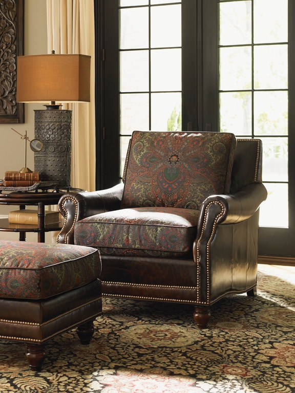 Lexington Living Room Sedona Leather Ottoman Ll7722 44