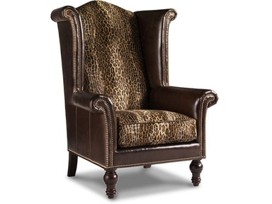 Living Room Kings Row Tight Back Leather Wing Chair Ll7760
