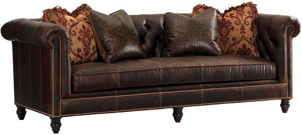 Lexington Manchester Leather Sofa Ll7994 33aa From Walter E Smithe Furniture Design