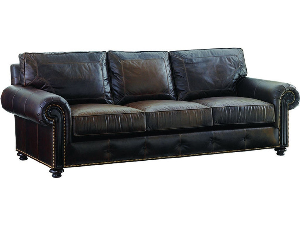 Lexington living room riversdale leather sofa ll7998 33 for Leather sofa michigan