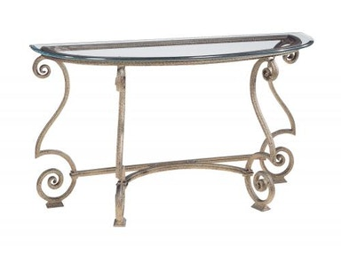 Bernhardt Living Room Console Table Glass Top and Base