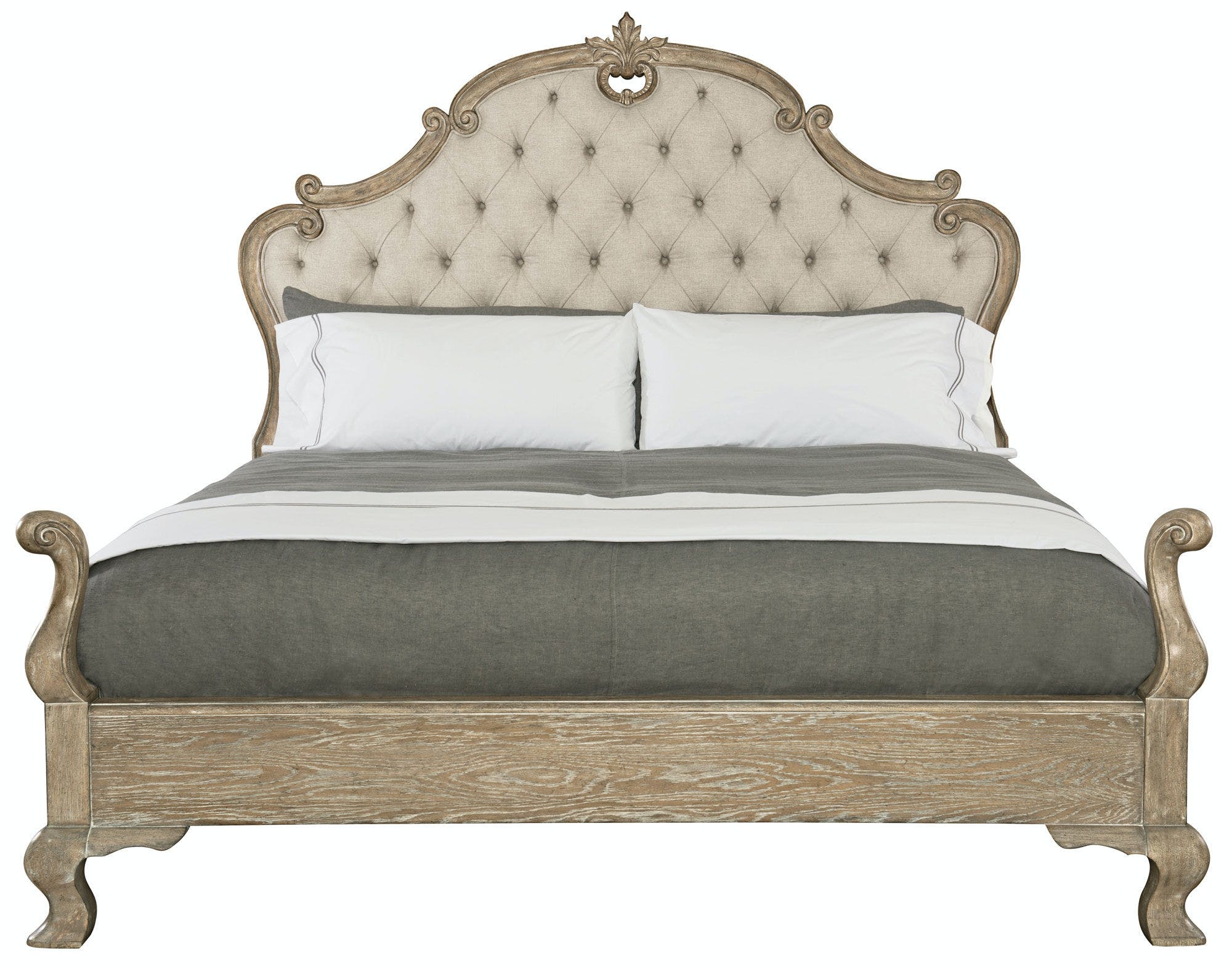 Upholstered Panel King Bed Headboard Be370h66
