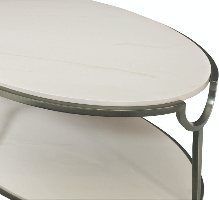 Bernhardt Living Room Oval Metal Cocktail Table 469-013