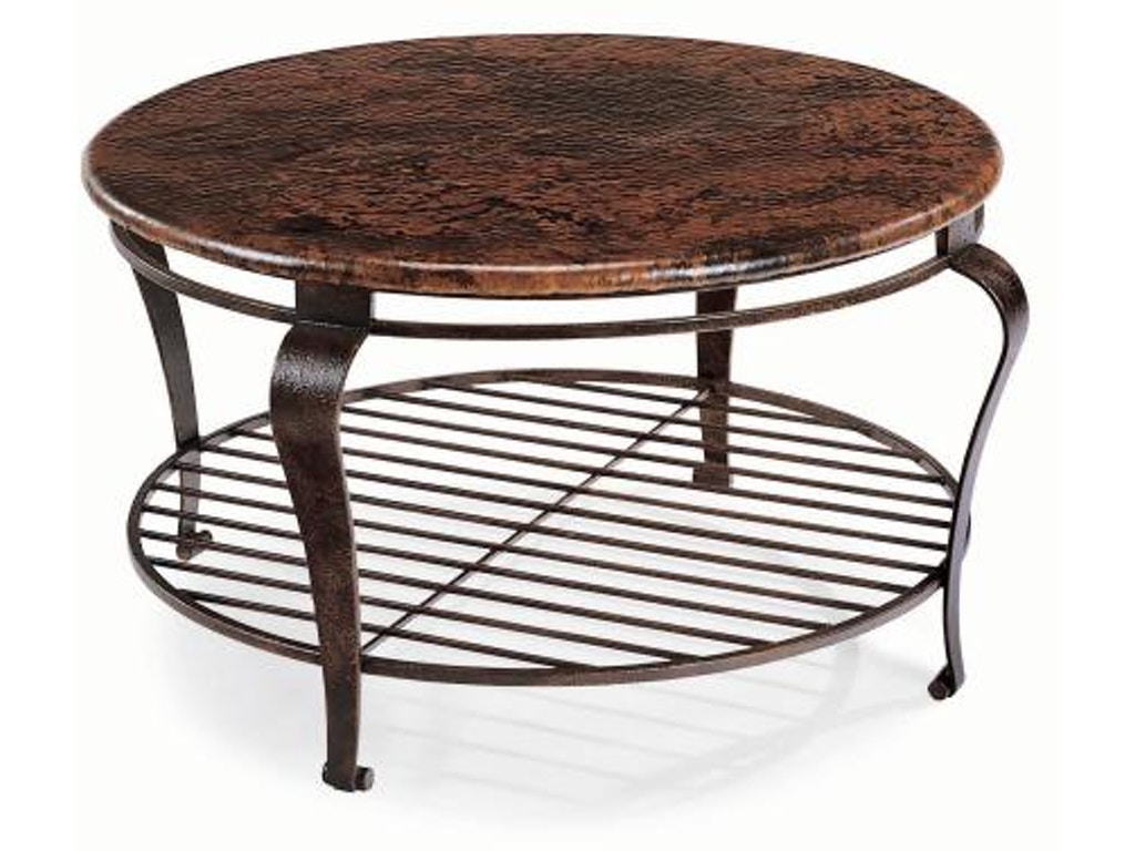 Bernhardt living room round cocktail table 477 016 for Living room cocktail tables