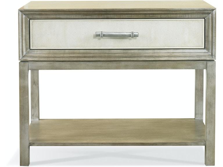 Hickory White Living Room Greg Single Drawer Side Table 107 - Elite ...