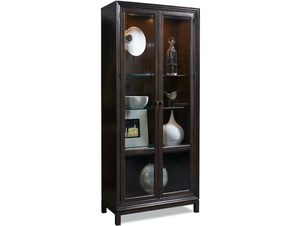 Hickory White Living Room Jason Glass Door Cabinet