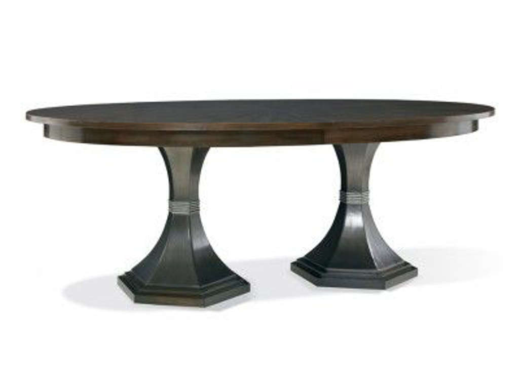 Hickory White Dining Room Paxton Double Pedestal Table 240 13 Toms Price Fu