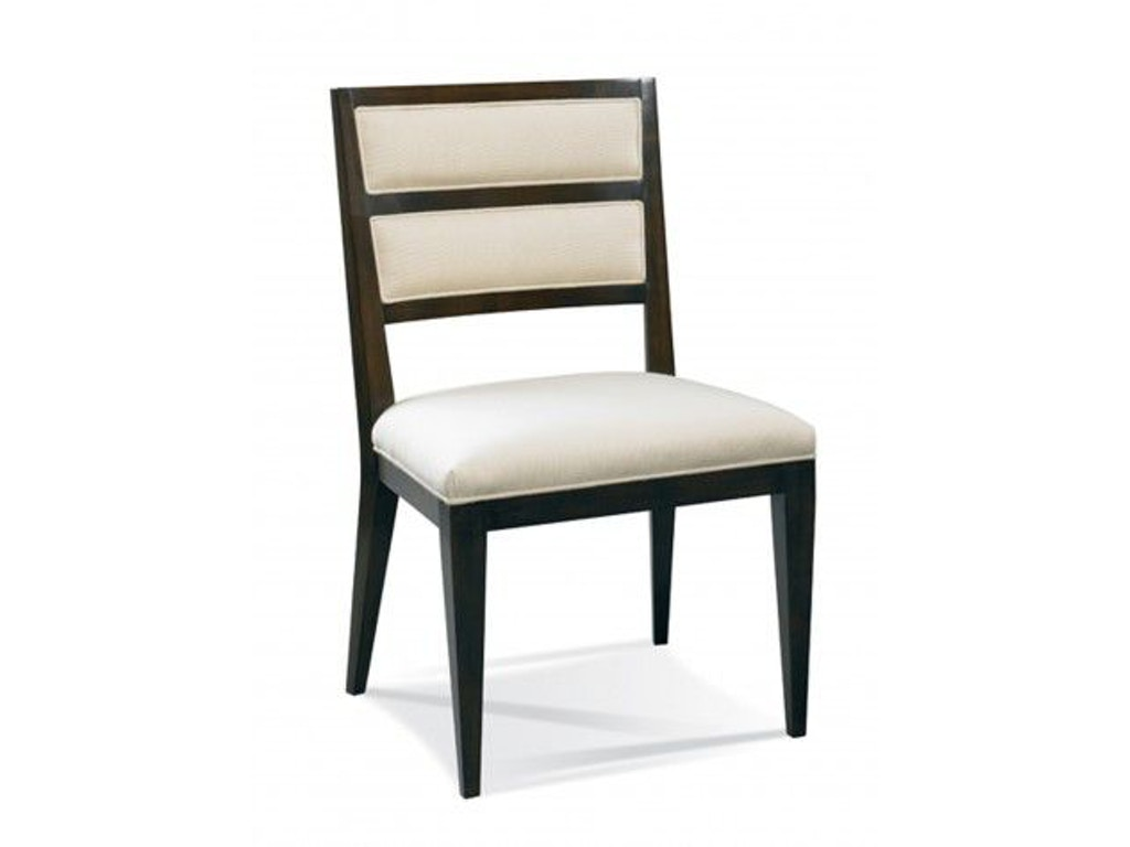 Hickory white dining room greek key side chair 241 62 saxon clark furniture patio design for Hickory chair bedroom furniture
