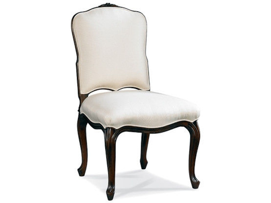 Hickory white dining room french side chair 301 62 hickory furniture mart hickory nc for Hickory chair bedroom furniture
