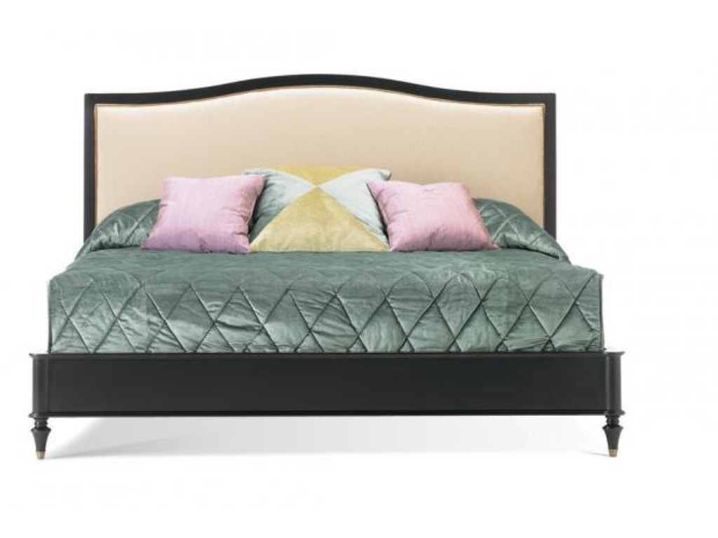 Hickory White Upholstered Queen Bed