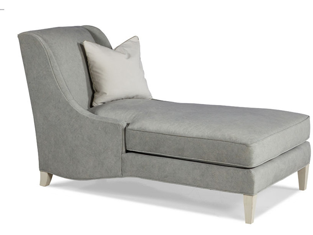 Hickory white living room armless chaise 4613 02 warren for Chaise interiors