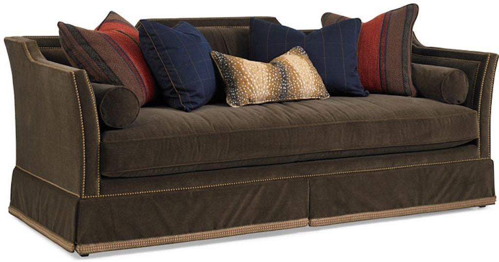 Terrific Hickory White Living Room Sofa 4848 05 Birmingham Machost Co Dining Chair Design Ideas Machostcouk