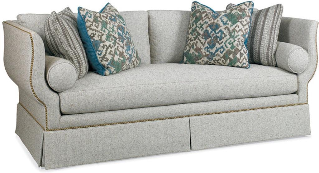 Fine Hickory White Living Room Sofa 4871 05X Studio 882 Glen Machost Co Dining Chair Design Ideas Machostcouk